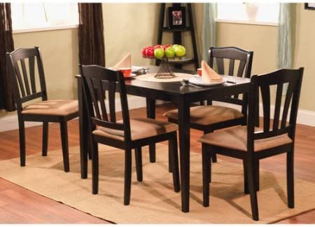 Amazon Com Metropolitan 5 Piece Wooden Dining Set 1 Table 4