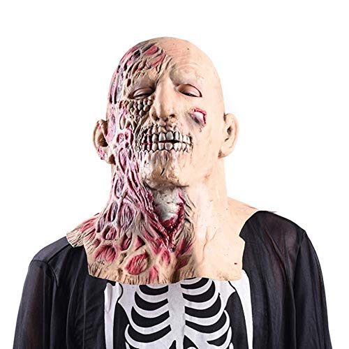 Halloween Mask Zombie Latex Mask Resident Evil Terror Vampire Scary Bald Bad Head Cover