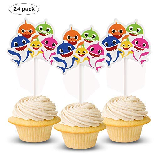 Queen54ferna Autude Baby Shark Cupcake Toppers Decoración ...