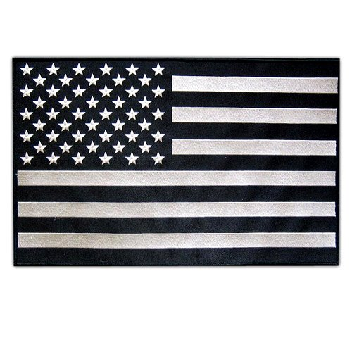 BEST AMERICAN SUBDUED LARGE USA FLAG US EMBROIDERED PATCH UN