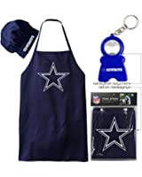 Combo Deal Apron And Chefs Hat + Happy Face HandyMan 3-1 Keychain Pack