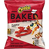 Baked Cheetos Oven Baked Crunchy Whole Grain Flamin' Hot Cheese Flavored Snacks, 104 Count