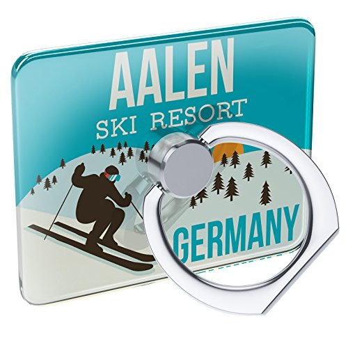Cell Phone Ring Holder Aalen Ski Resort - Germany Ski Resort Collapsible Grip & Stand Neonblond