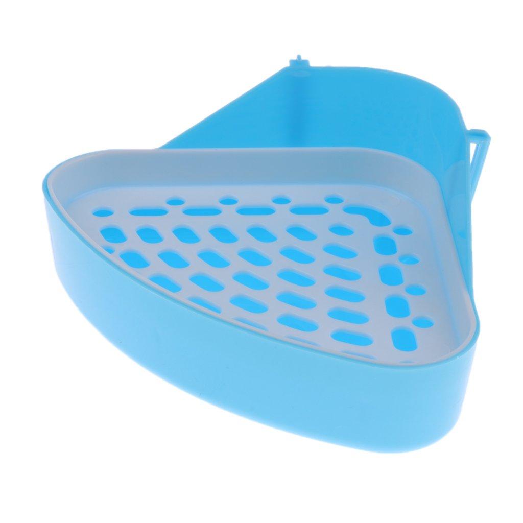 Homyl Double-layer Hamster Gerbille Pet Cage Corner Sand Shovel Toy Toilet Litter Tray - Type 1 - Blue