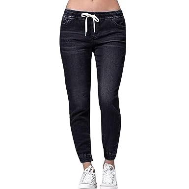 STRIR Vaqueros Rotos Mujer Vaqueros Mujer Tallas Grandes Vaqueros Altos Ajustados Pantalones Tejanos Largos Mujer Anchos Casual Straight Skinny ...