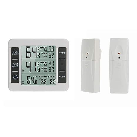MAKTXL Termómetro para nevera, termómetro digital para ...