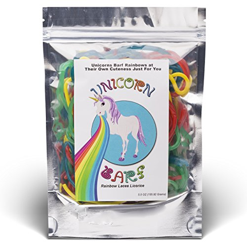 [Unicorn Barf - Rainbow Lace Licorice Candy - Funny Gag Gifts - Birthday Girl, Boy - Father's Day] (Cherry Apple Costumes)