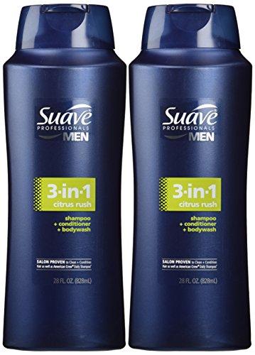 Suave Professionals Men 3-in-1 Shampoo + Conditioner + Body