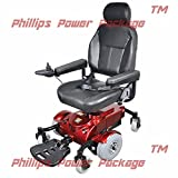 "Zip'r Mobility - Zip'r Mantis - Full Size Power Wheelchair - 18""W x 18""D Seat - Red - PHILLIPS POWER PACKAGE TM - TO $500 VALUE"