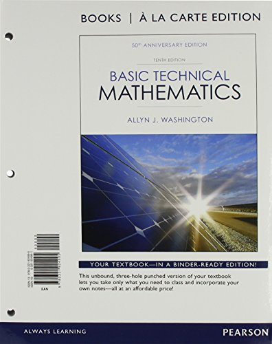 Basic Technical Mathematics, Books a la Carte Edition (10th Edition)