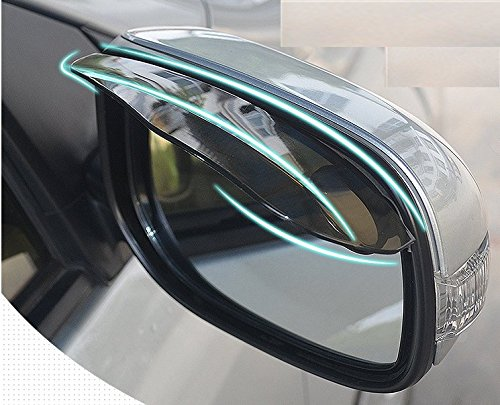 One Point Zero One 2 Pack Automotive/Car Rearview Mirror Visor Rain guard Mirror Protector for All Vehicles ()