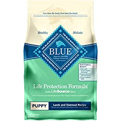 Blue Buffalo Life Protection Formula Puppy Dog Food – Natural Dry Dog Food for Puppies – Lamb and Oatmeal – 6 lb. Bag