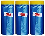 3M Automotive Best Masking Tape Painting, Tape and Drape Pre-Taped Masking Film (65 Feet ) (3 of Set(35.4 In))