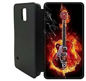 Wallet Flip funda por Samsung Galaxy S5 [GUITARRA GUITARRA FLAMME] primera calidad Wallet Flip PU ??cuero funda por Samsung Galaxy S5 [FDIOJPWAE7631]