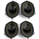 """2 Pairs KICKER DS68 6x8"""" 2-Way Coaxial Car Audio Speakers 280 Watts Total 11DS68"""
