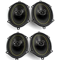 2 Pairs KICKER DS68 6x8 2-Way Coaxial Car Audio Speakers 280 Watts Total 11DS68