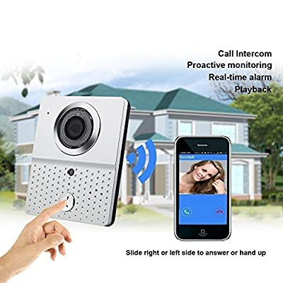 Wireless Wifi Video Intercom Doorbell,Xinda 2016 IR Night Vision Visual Home Security Camera Monitor System with Alarm and Smartphone Control for Android IOS Mobile Phone (WLDB601-Silver) by Daxin