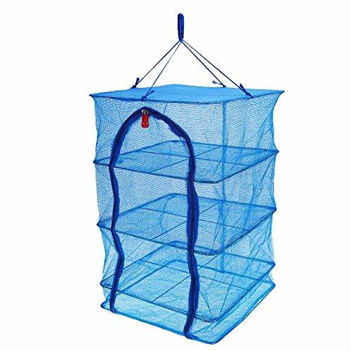 4 Layers 40 x 40 x 65cm Fish Drying Net Durable Drying Rack