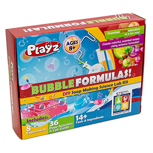 - Playz DIY Make Your Own Soap Activity Set w/ Chemical Reactions - Arts & Crafts Science Kit for Kids - Make 12+ Soaps w/ STEM Educational Lab Guide and Ingredients Included for Girls, Boys, and Teens