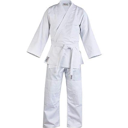 Traje de judo blanco GI/con cinturón 000/110: Amazon.es ...