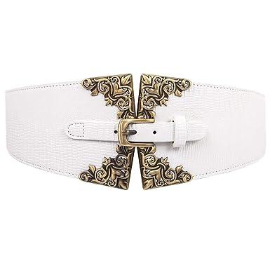 Cinturones para mujer Elástica Cinturón Vestido de abrigo de falda ...