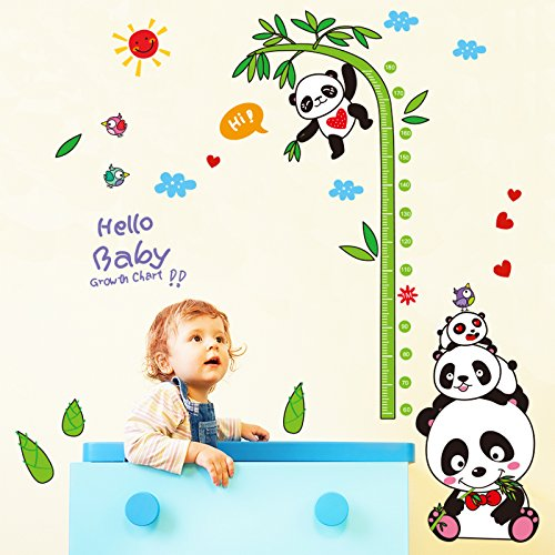 Baby Growth Height Chart Measure Ruler Vinyl Wall Hanging Decal Kid Baby Room DD