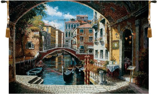 Archway To Venice Tapestry Wall Hanging
