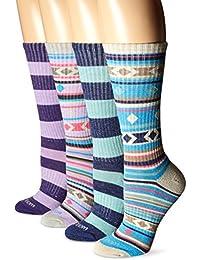 Wool IQ Women's Warm Merino Cushion Crew Boot Sock 4-Pack