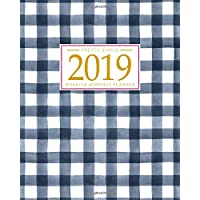 2019 Planner Weekly And Monthly: Calendar Schedule + Organizer   Inspirational Quotes And Gingham Cover   January 2019 through December 2019