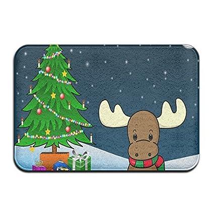 lionkin8 cute christmas moose indooroutdoorbathroom mats 24x16 inch
