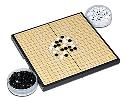 【ハピクリ】 囲碁 囲碁盤 セット 折りたたみ式 ポータブル マグネット石 (大盤(碁石361個))