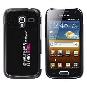 A-type Arte & diseño plástico duro Fundas Cover Cubre Hard Case Cover para Samsung Galaxy Ace 2 (Para demostrar que estoy equivocado)