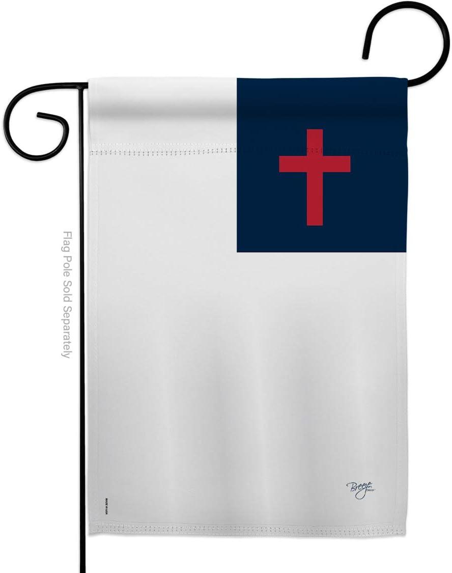 "Breeze Decor G153049-BO Christian Inspirational Faith & Religious Decorative Vertical Garden Flag, 13""x 18.5"", Multi-Color"