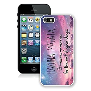 Diy Apple Iphone 5s Case Hakuna Matata Design Soft Silicone White Phone Cover Accessories for Iphone 5