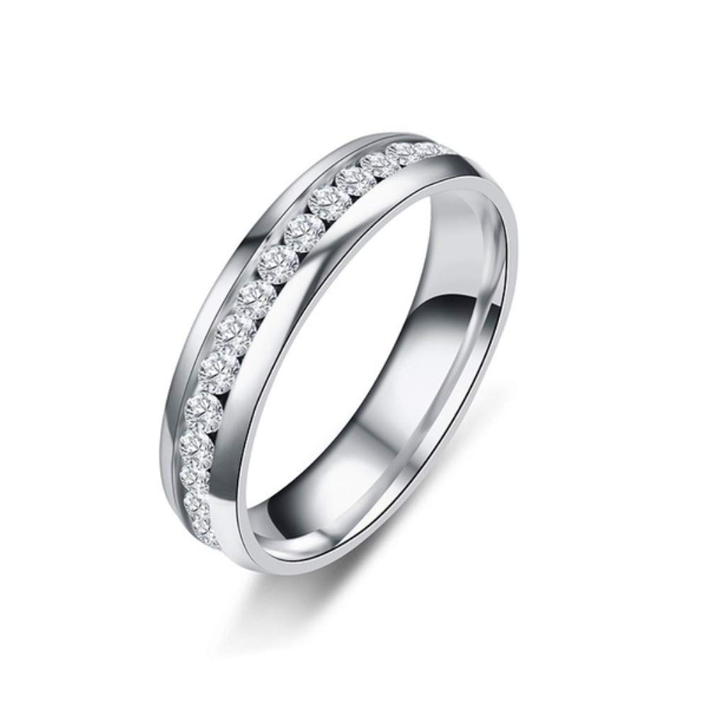 BoBoLing Crystal Ring Healthcare Weight Loss Ring Slimming Healthy Stimulating Acupoints Gallstone Ring Magnetic Therapy Silver 7