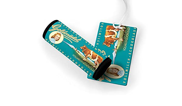 Amazon.com | Vollmilch Schokolade Vintage Poster Luggage Finder Tag & Wrap | Luggage Tags