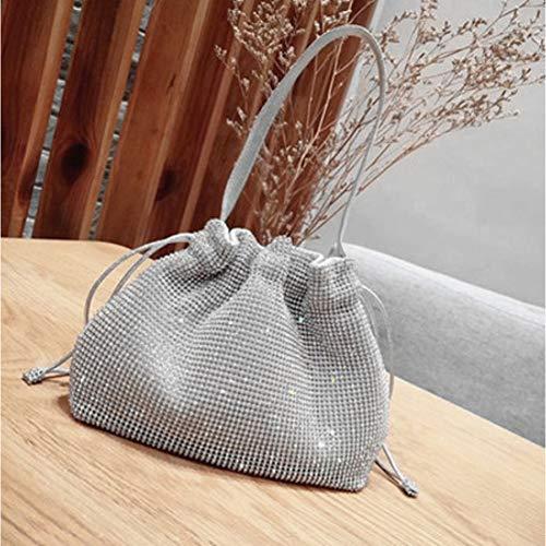 sera argento sposa spalla diamanti vintage a portafoglio borsa borse donna banchetto design matrimonio cristallo Hkduc frizione strass di 4Tp01xwnq
