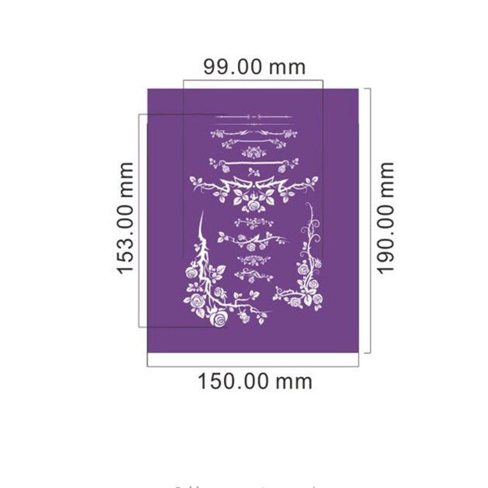 3Pcs/lot Elegant Flower Lace Stencil for Cake Design, Fondant Wedding Cake Mesh Stencil, Lace Mold Fabric Stencils Cake Decorating Baking Tools, Cake Lace Side Plastic Stencil, Cake Side Lace Stencil