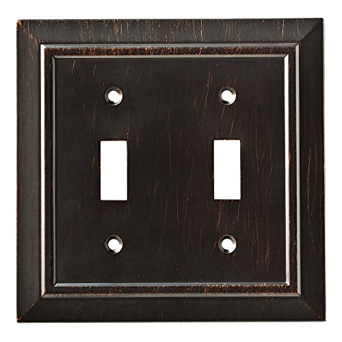 (Franklin Brass W35220-VBR-C Classic Architecture Double Switch Wall Plate/Switch Plate/Cover, Venetian Bronze)