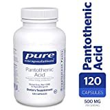 Pure Encapsulations - Pantothenic Acid - Hypoallergenic Supplement Supports Cellular Energy Production, Adrenal and Cardiovascular Health* - 120 Capsules