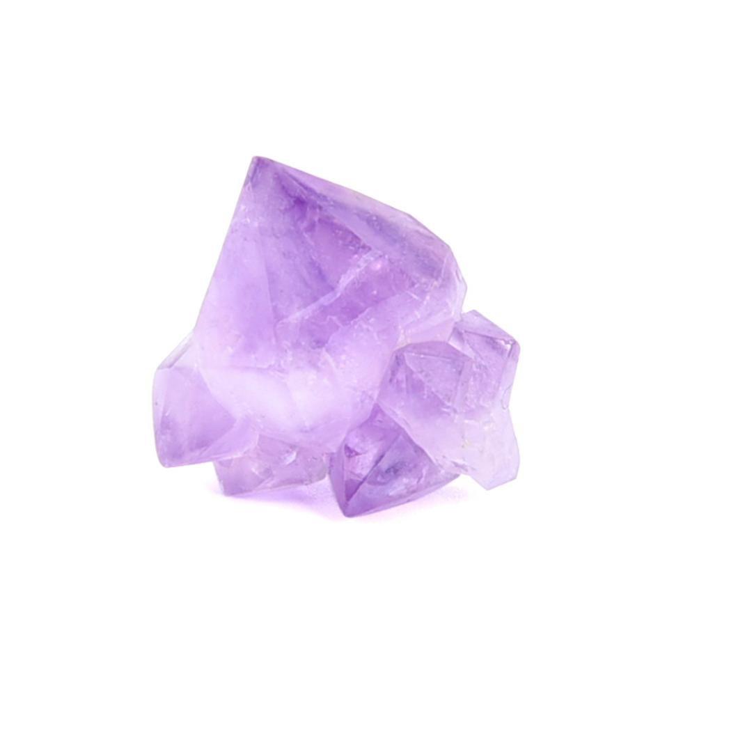 Fullfun Natural Hexagonal Fluorite Crystal Purple Gem Stone (1)