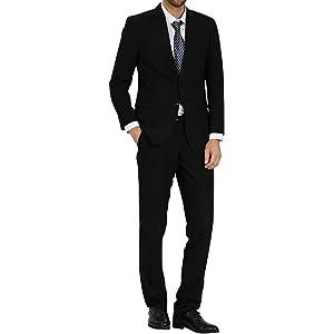 WEEN CHARM スーツ メンズ 2ツボタン ビジネススーツ スリム 就職スーツ 上下セット メンズスーツ フォーマルスーツ 防シワ オールシーズン対応