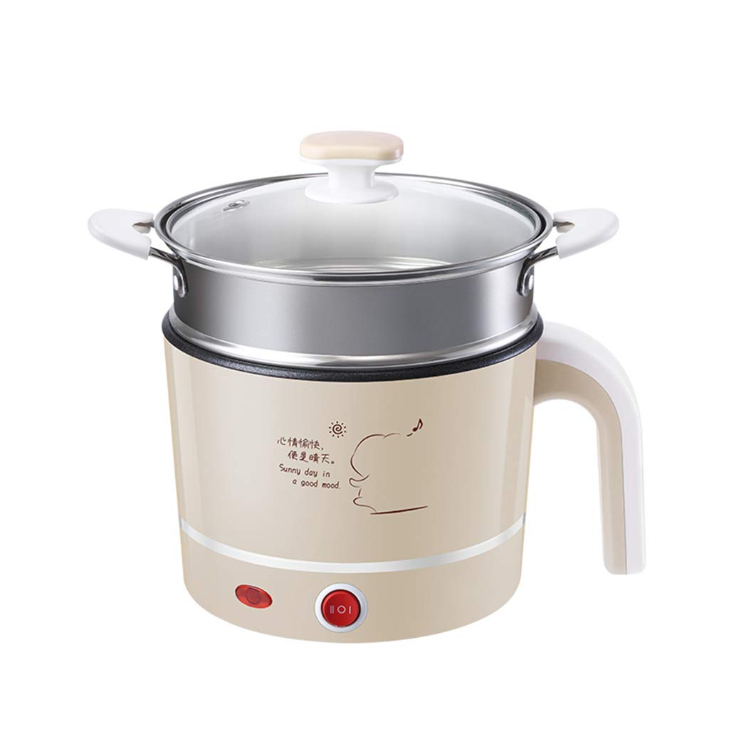 Pot Portable Cooker Electric Pot Kettle Multifunctional Mini for Cooking Soup Porridge and Steamed Food1.2L (UK Plug) (Size : S)