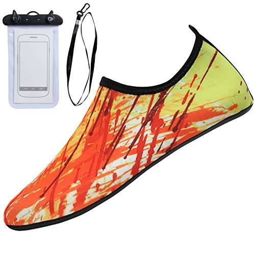 Shoes Orange Beach for Aqua Barefoot Pool Water Surf Sixspace Socks Yoga Shoes Unisex Swim cZqXBF6