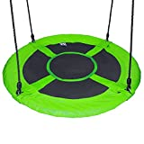 Hi Suyi 100cm Disc Giant Nest Web Hanging Tree Swing Seat Set Heavy Duty Easy to Set Up For Kids Childrens Outdoor Backyard Garden
