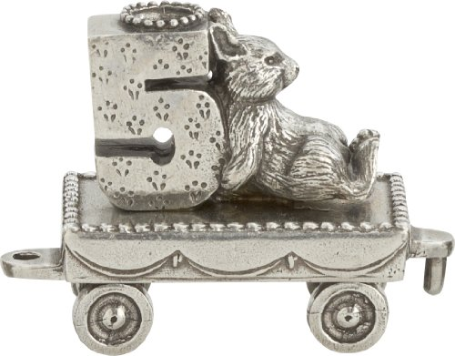 (Danforth Pewter Birthday Train (5 - Bunny) - Handcrafted - Made in USA)