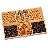 Gourmet Nuts & Snacks Gift Tray Deluxe