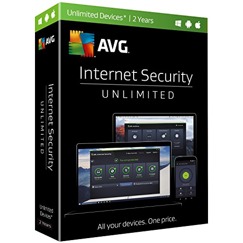 AVG  Internet Security 2017, Unlimited Devices, 2 Years