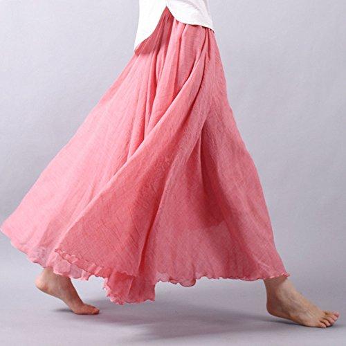 Fiesta De Elegante Elástica Vestidos De Boda Cintura Falda Noche Larga Plisadas Vestido Boho Luz Maxi Falda Rojo De Playa Mujer Grande A17qpwvv