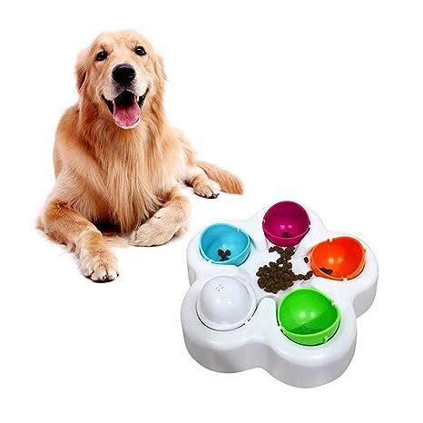 FOONEE - Puzzle para Perro con Forma de Rompecabezas, Cuencos para Comida de Perro,